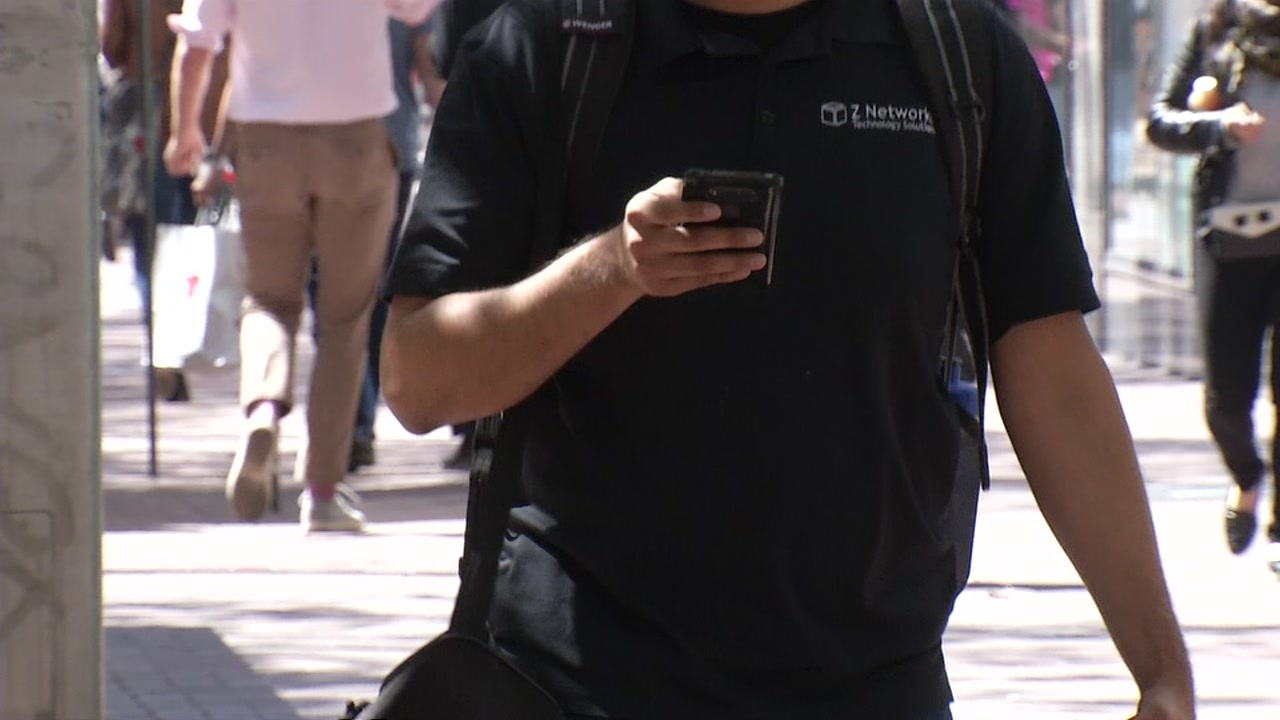 A man uses his cellphone in this undated file photo.