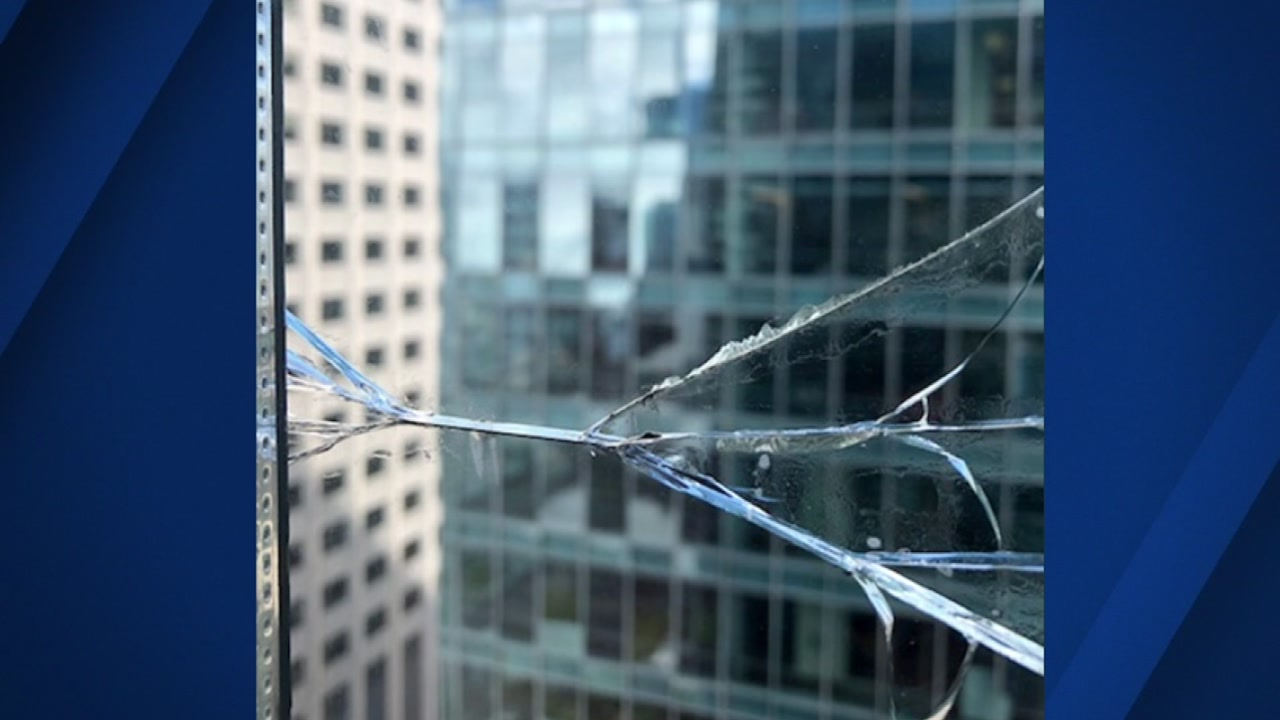 New photos offer a close-up view of the break that happened on the 36th floor over Labor Day weekend.