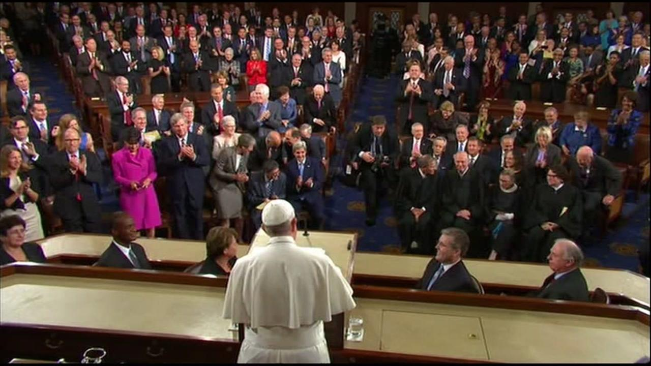 Pope Francis addressed a joint session of Congress in Washington, D.C. on Thursday, September 24, 2015.