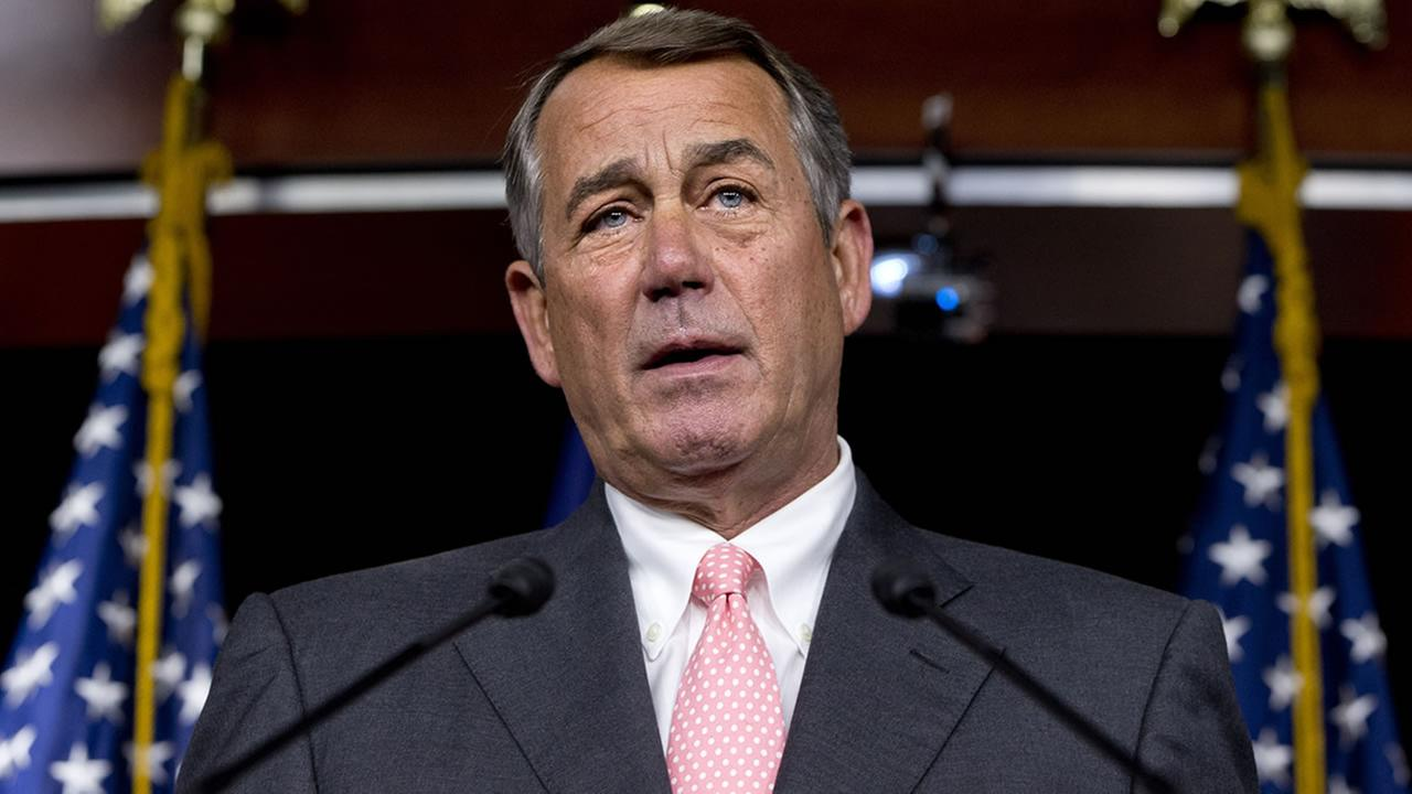 House Speaker John Boehner of Ohio speaks during a news conference on Capitol Hill in Washington, Friday, Sept. 25, 2015. (AP Photo/Jacquelyn Martin)