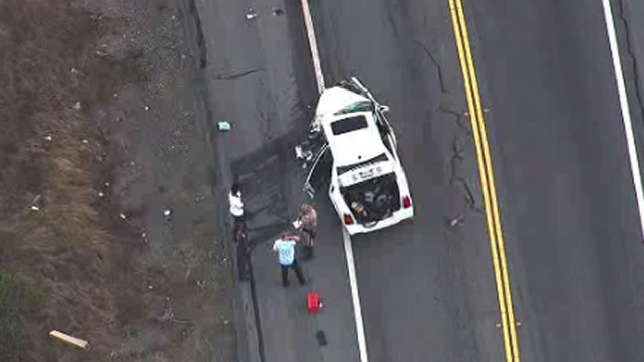 car crash on San Pablo Dam Road