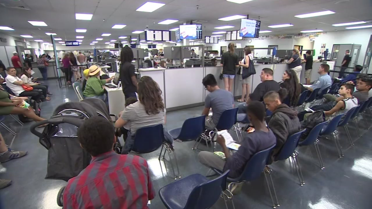 People wait at the DMV in this undated file photo.
