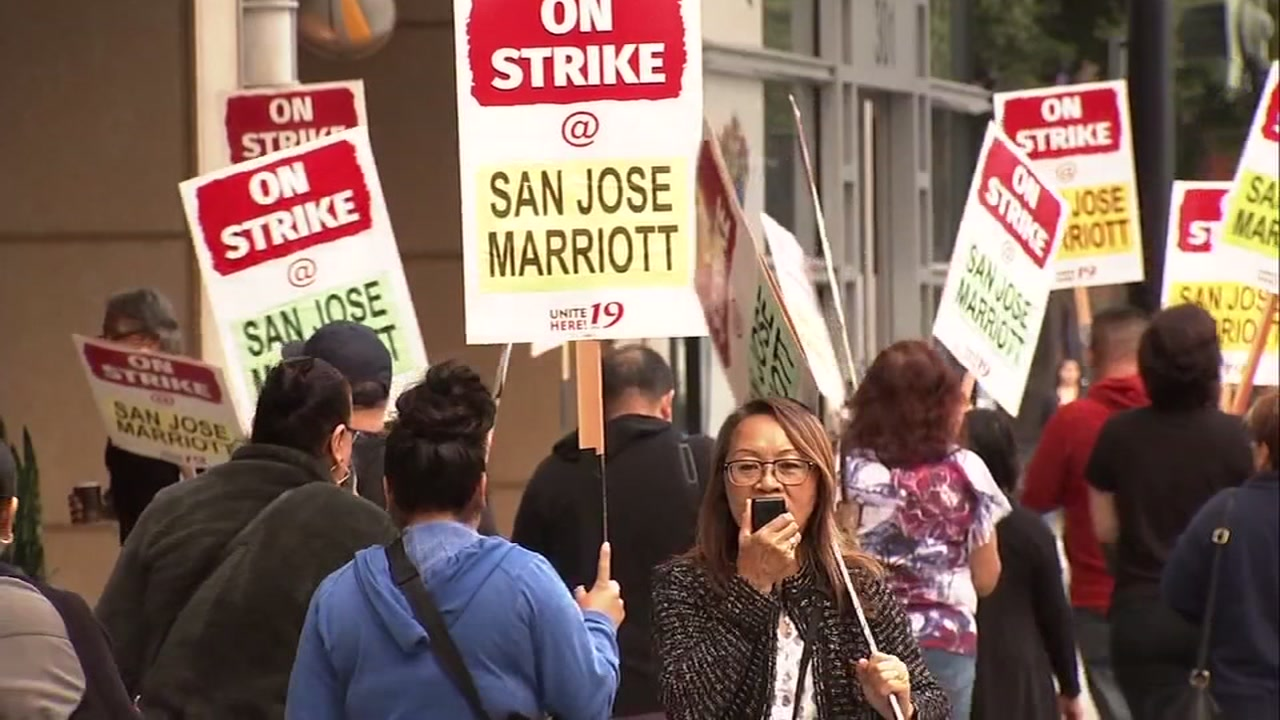 South Bay Marriott Hotel workers on strike say Silicon Valley location is impacting their lives