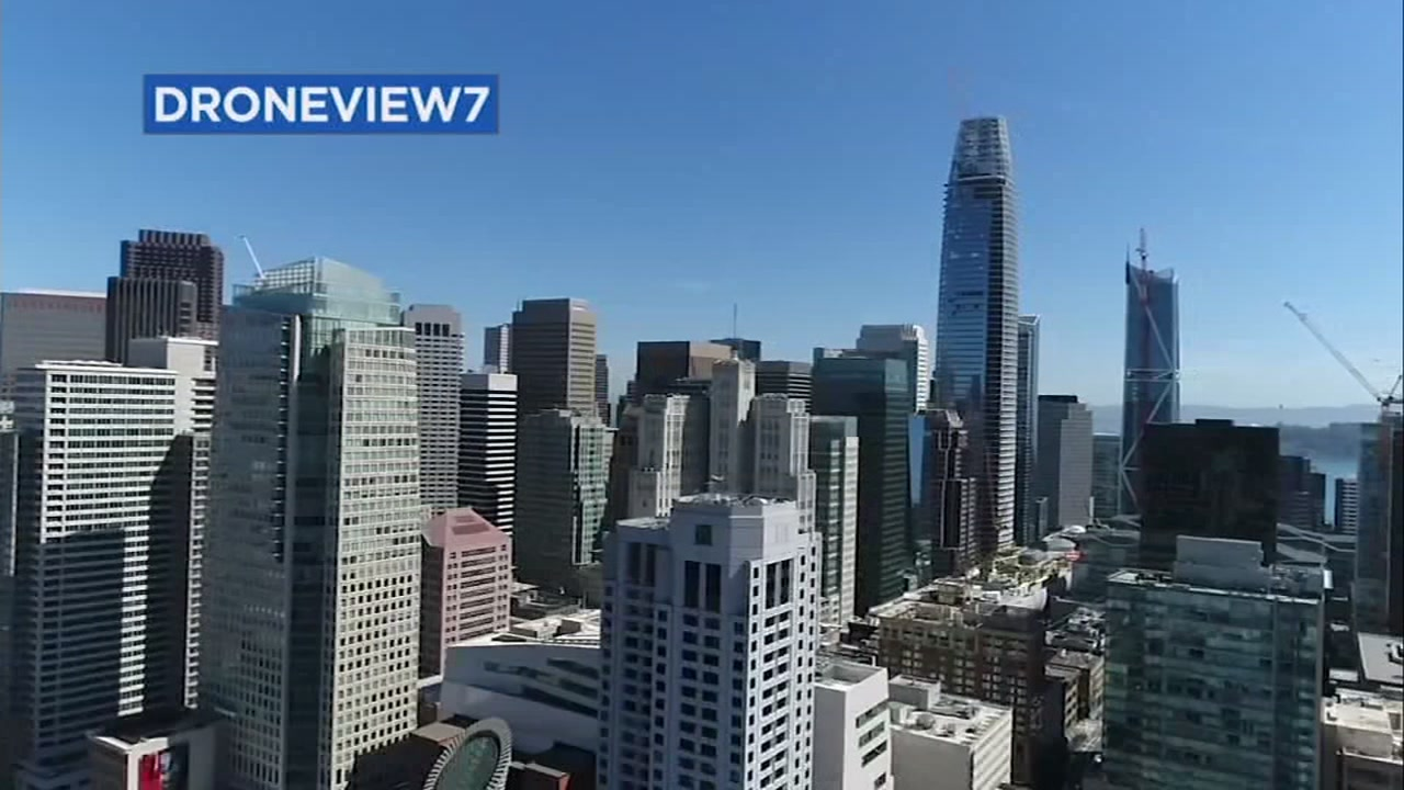 DRONEVIEW7 captures the San Francisco skyline in this file photo.