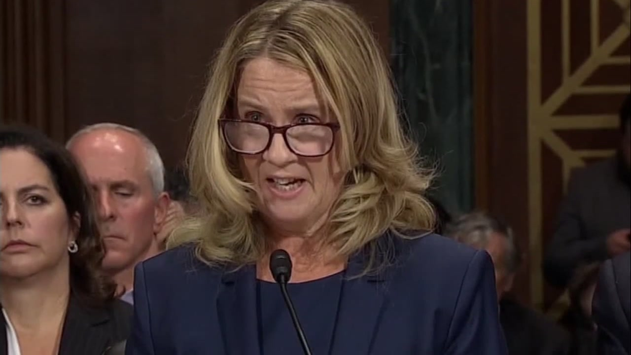 Dr. Christine Blasey Ford during her testimony before the Senate Judiciary Committee on Sept. 27, 2018.
