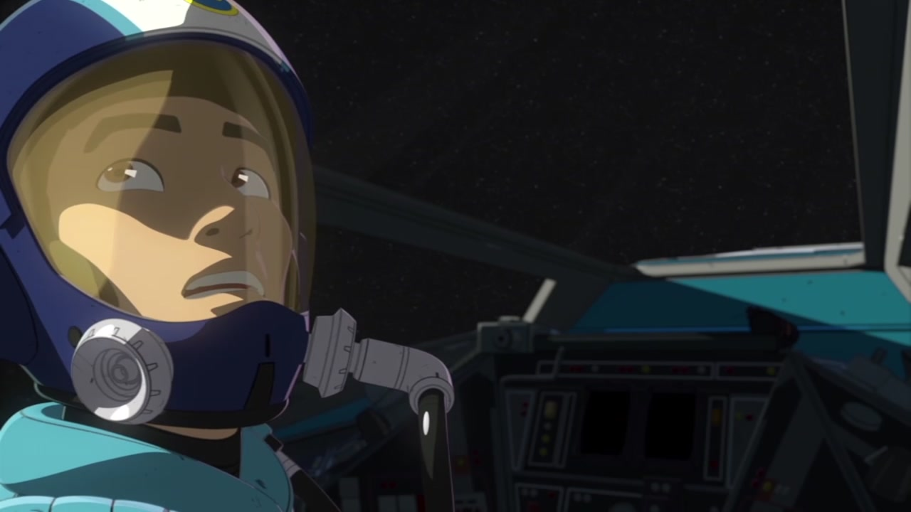 A still image from Star Wars Resistance is pictured.