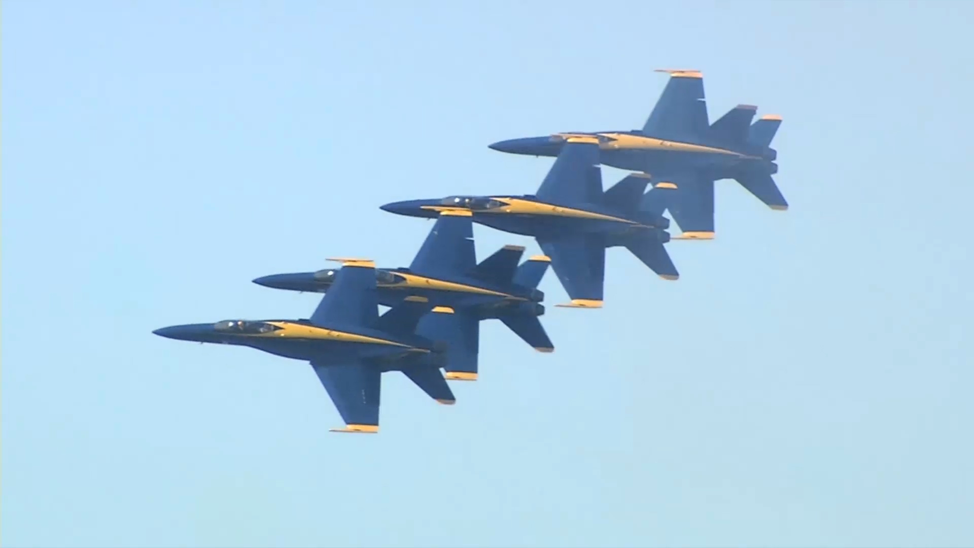 The Blue Angels took to the skies over San Francisco on Oct. 6, 2018.