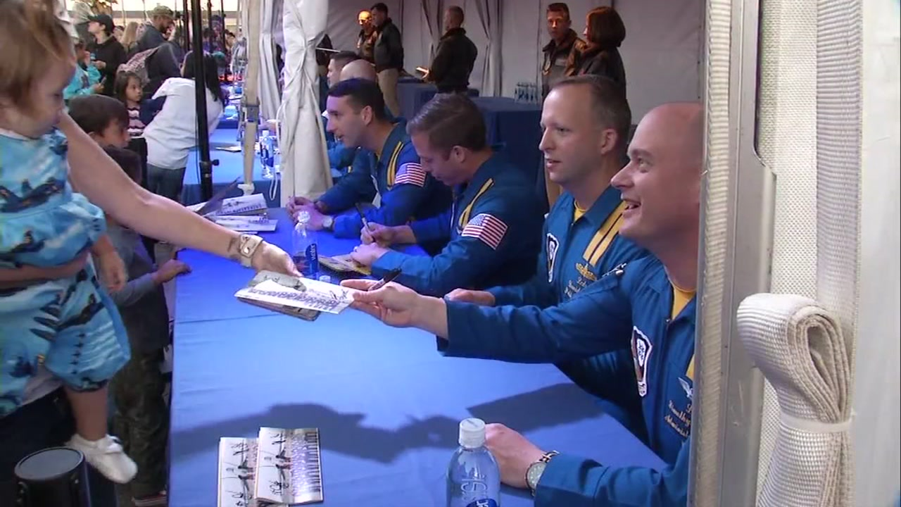 The Blue Angels pilots met with fans during Fleet Week in San Francisco on Oct. 6, 2018.