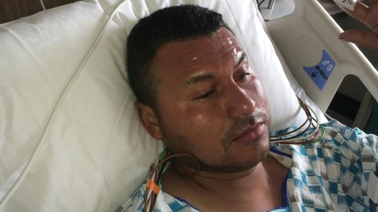 Manuel Cruz in the hospital