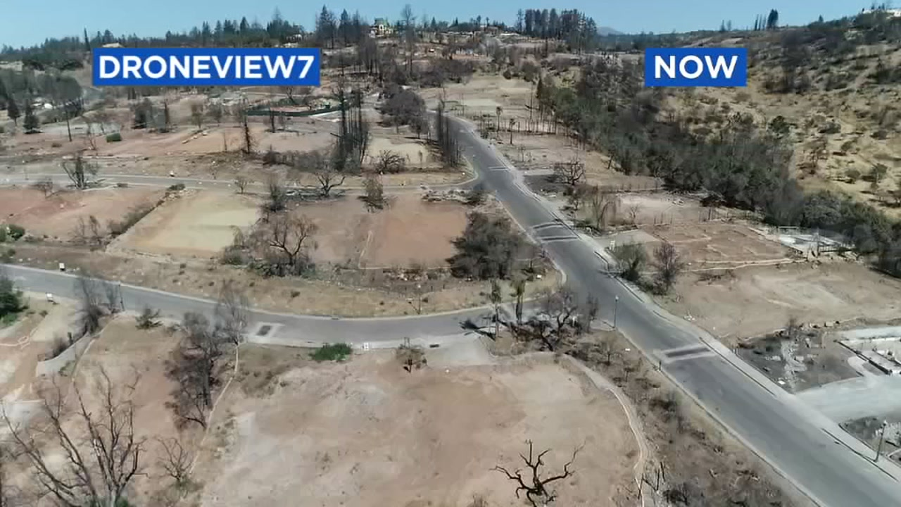 This image taken by DRONEVIEW7 in 2018 shows the the Fountaingrove neighborhood in Santa Rosa, Calif.