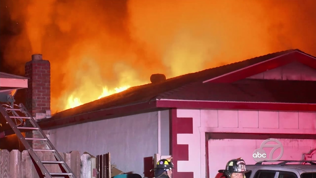 House fire in San Jose, California on Tuesday, October 9, 2018.