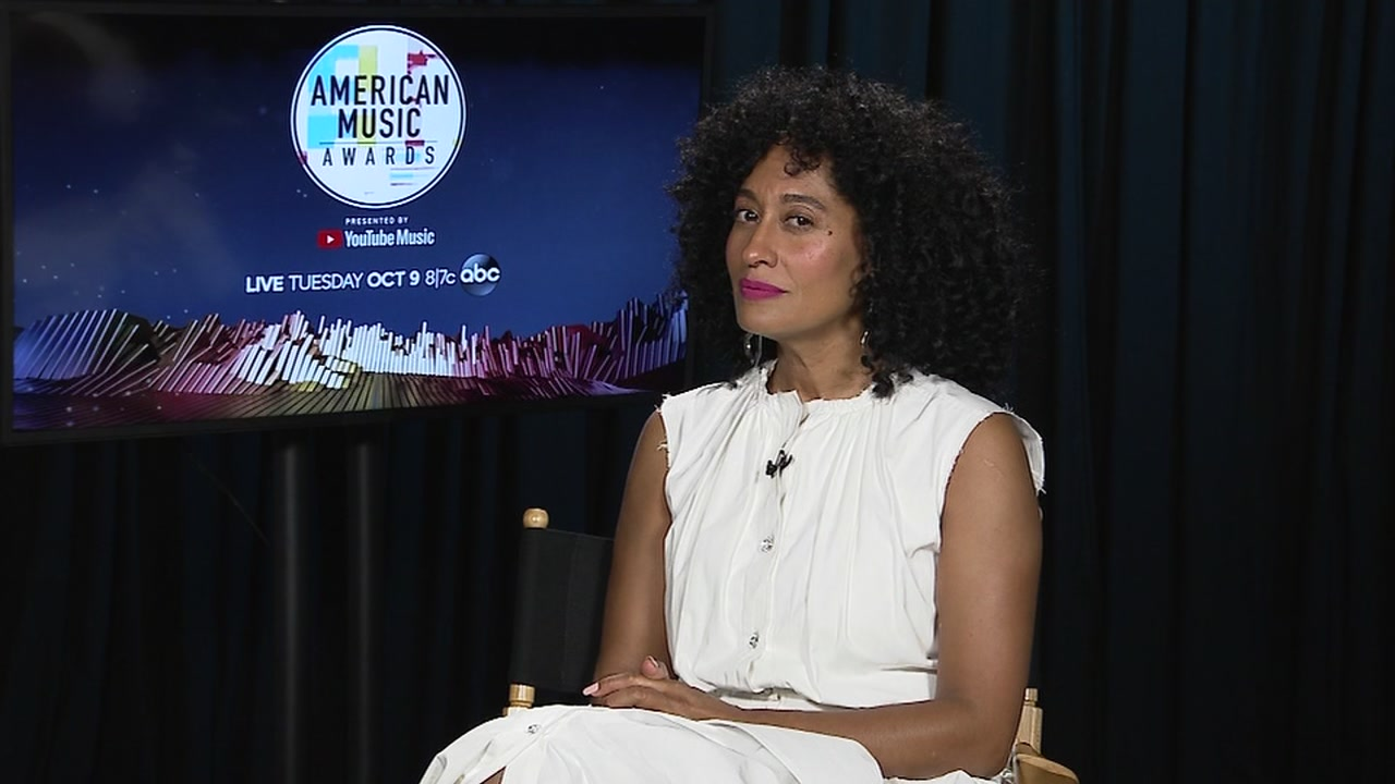 Tracee Ellis Ross dishes about host gig at tonights American Music Awards