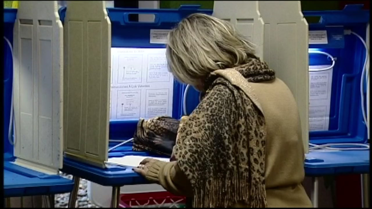 A woman votes in this undated file photo.