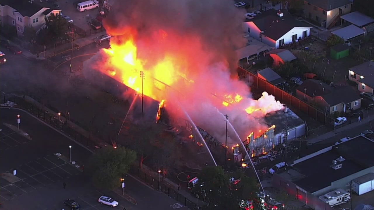 Fire in Oakland, California on Wednesday, October 10, 2018.