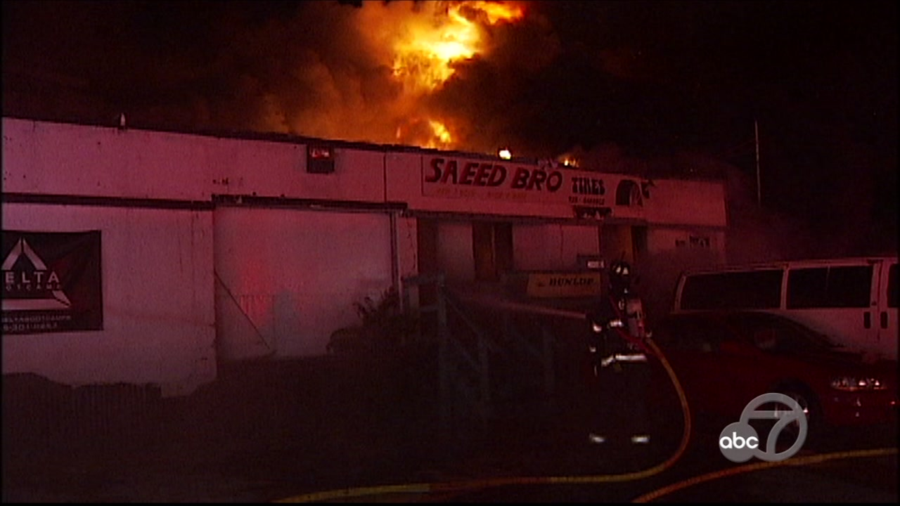 Fire at business in Oakley, California on Wednesday, October 10, 2018