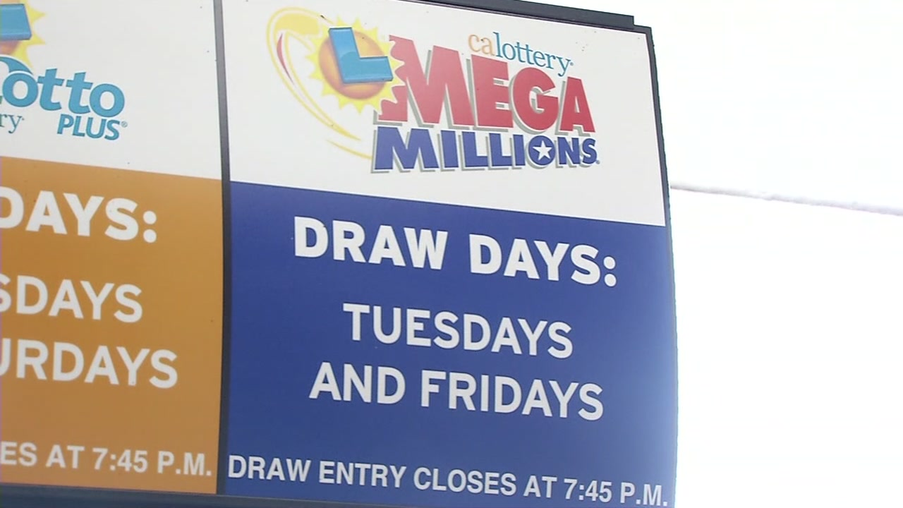 A Mega Millions sign is pictured in this undated file photo.