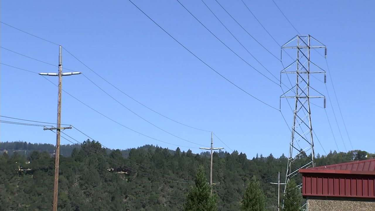 Powerline in Calistoga, California on Monday, October 16, 2018.