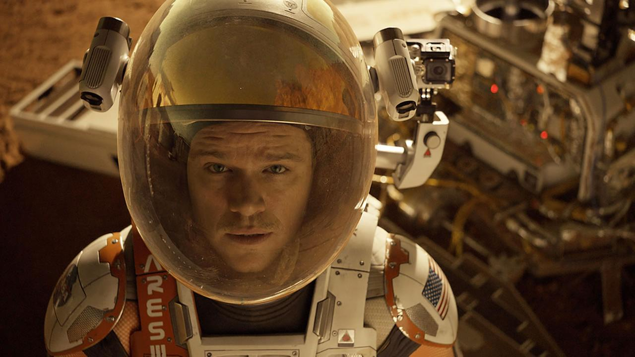 This photo released by 20th Century Fox shows Matt Damon in a scene from the film, The Martian. (Aidan Monaghan/20th Century Fox via AP)