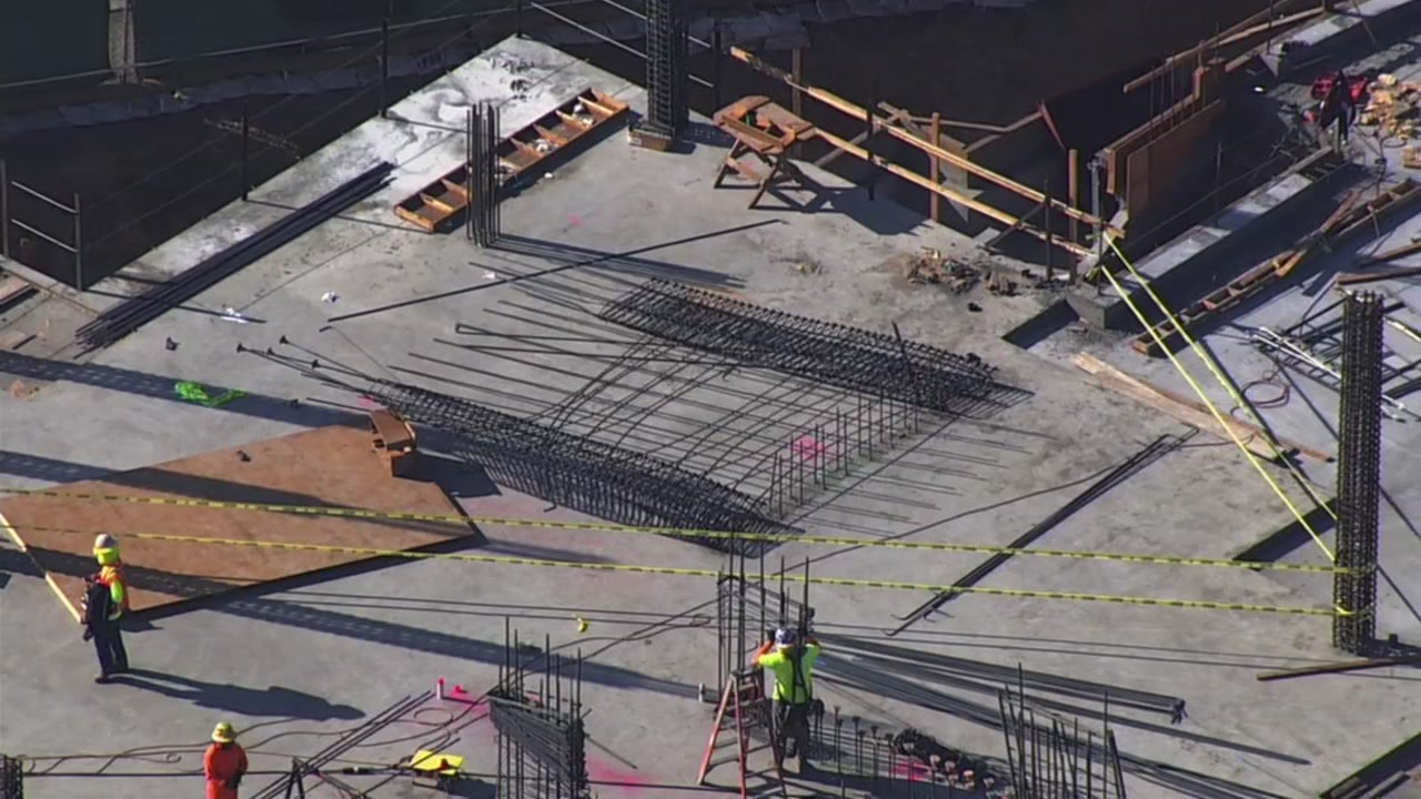 Rebar in a construction accident in Fremont, California on Wednesday, October 17, 2018.