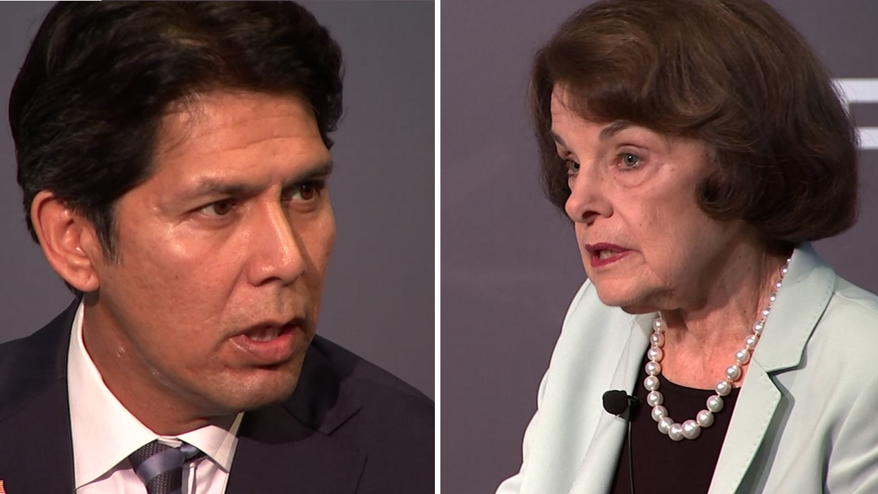 U.S. Sen. Dianne Feinstein and state Sen. Kevin de Leon took part in their first and only debate, just three weeks ahead of Election Day.