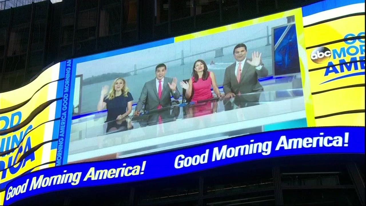 Good Morning America gave ABC7 little face time in Times Square.