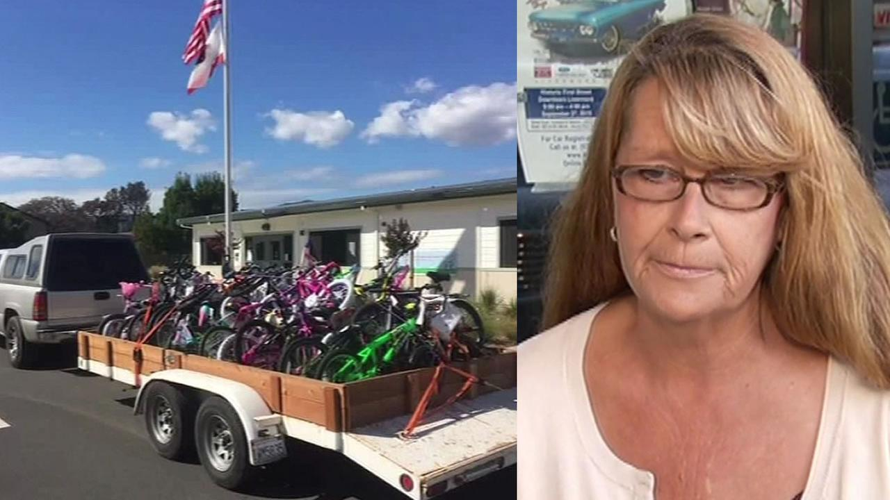 bikes loaded up in truck, Candy Alcott
