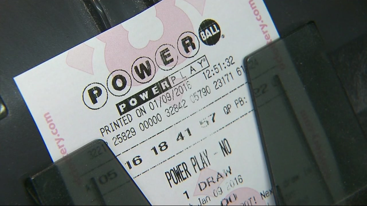 A Powerball ticket is seen in this undated file photo.