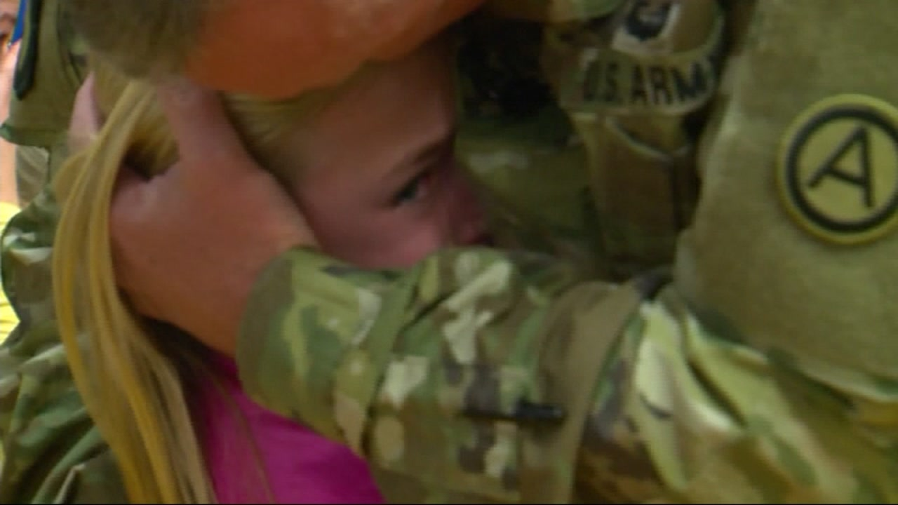 A soldier returned home to surprise his daughter and made national headlines in an emotional video of the reunion.