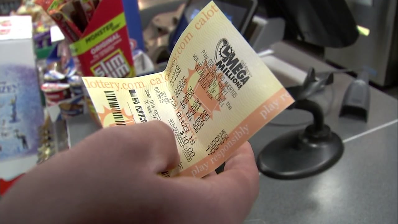 A Mega Millions ticket is seen in this undated image.