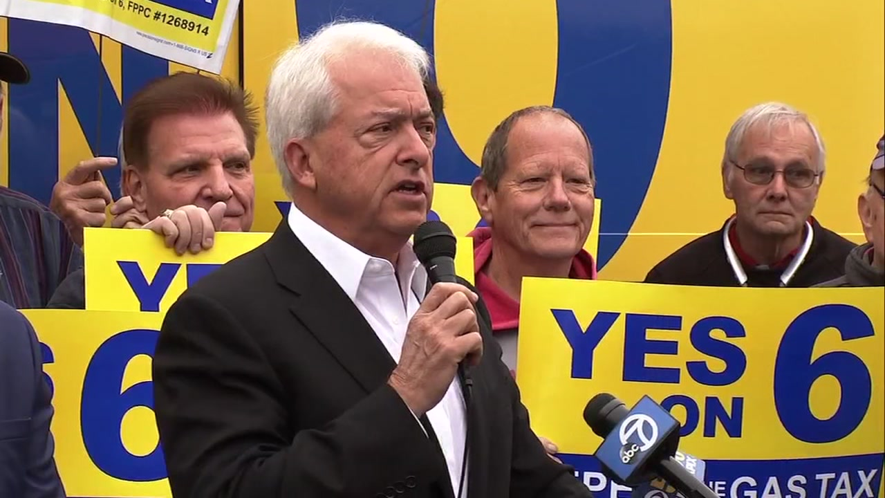 Republican gubernatorial candidate John Cox showed up to lend his support for Prop 6 on Monday, Oct. 22, 2018 in San Jose, Calif.