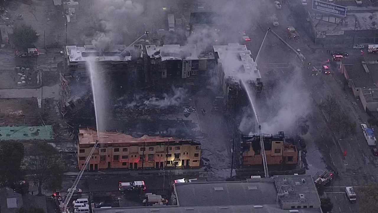 Fire in Oakland, California on Tuesday, October 23, 2018.
