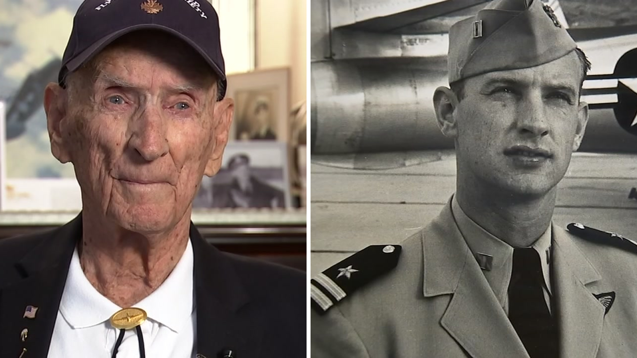 97-year-old Dean Diz Laird flew as an ace fighter pilot in World War II, the Korean War, and Vietnam.
