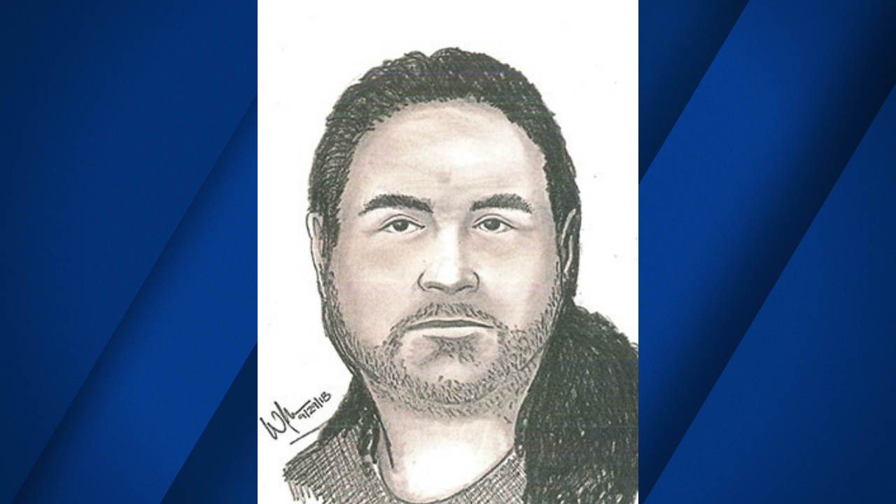 A sketch of a man suspected of indecent exposure in San Jose, Calif. is seen in this undated image.