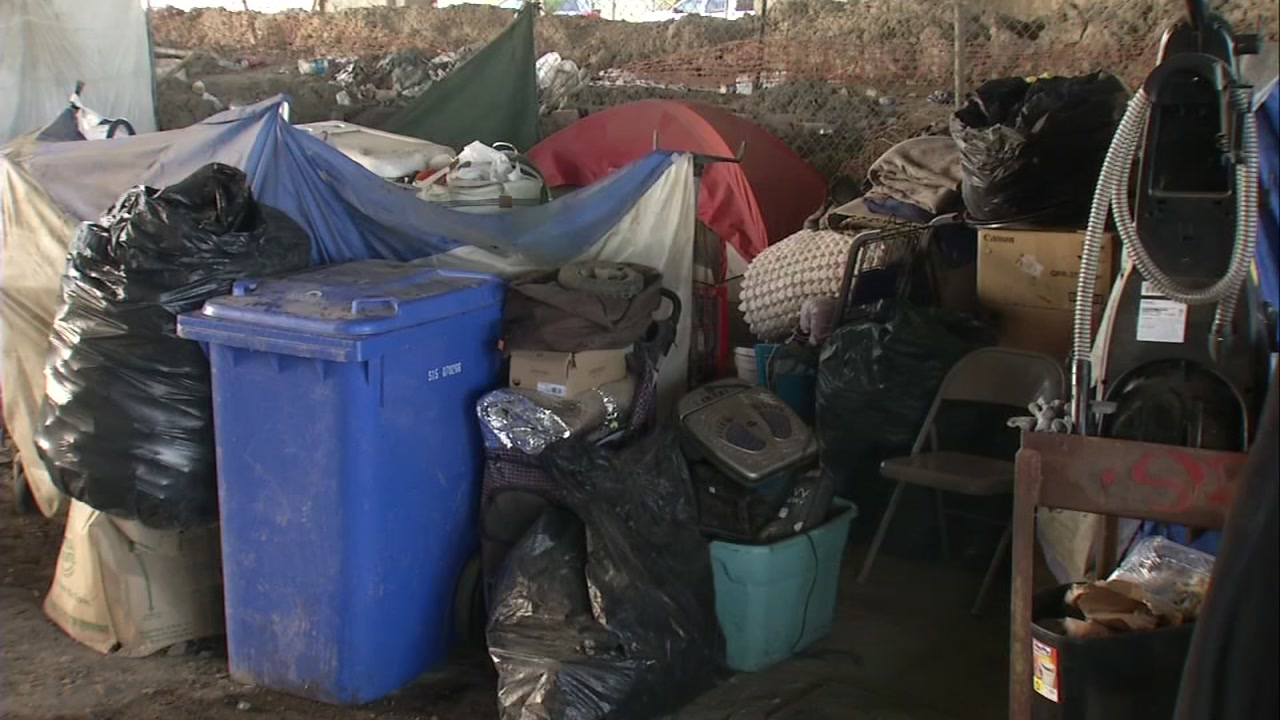 Garbage is pictured at a homeless encampment in San Jose, Calif. on Thursday, Oct. 25, 2018.