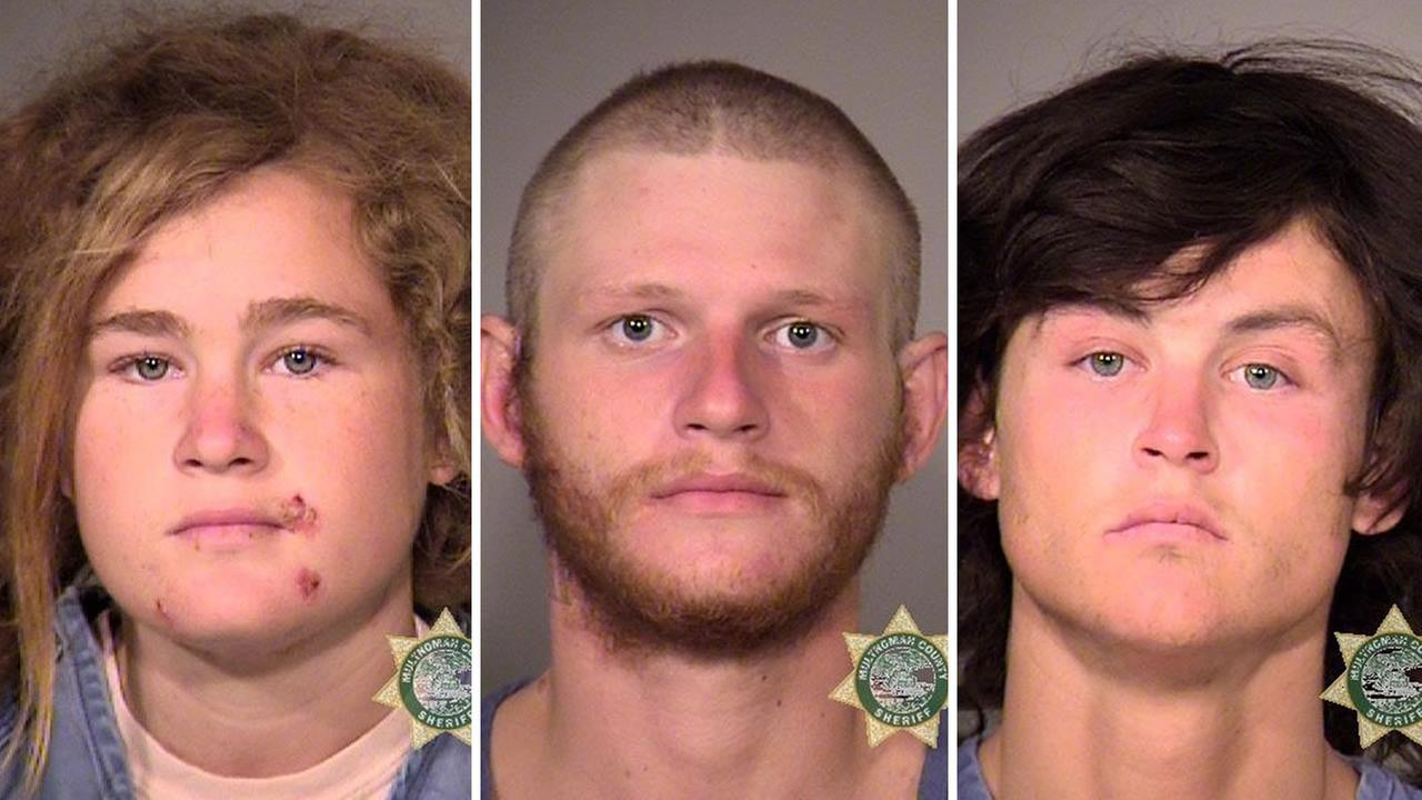 From left to right: 18-year-old Lila Scott Alligood, 23-year-old Morrison Haze Lampley, and 24-year-old Sean Michael Angold.