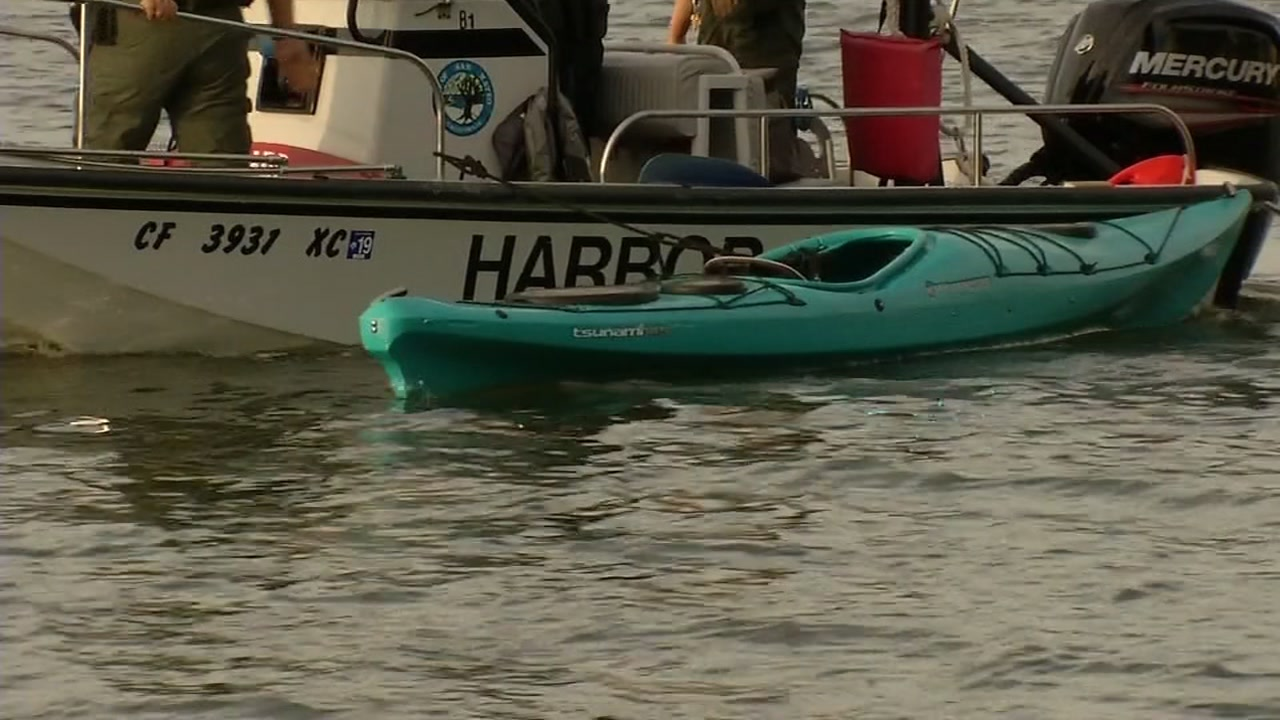 A teenager is being treated at a trauma center, after being badly hurt when a boat hit his kayak.