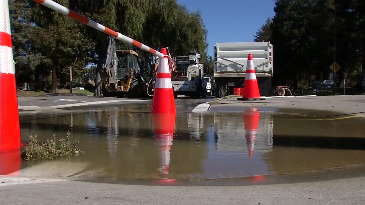 Broken water main closes businesses, causes issues for drivers in Sunnyvale