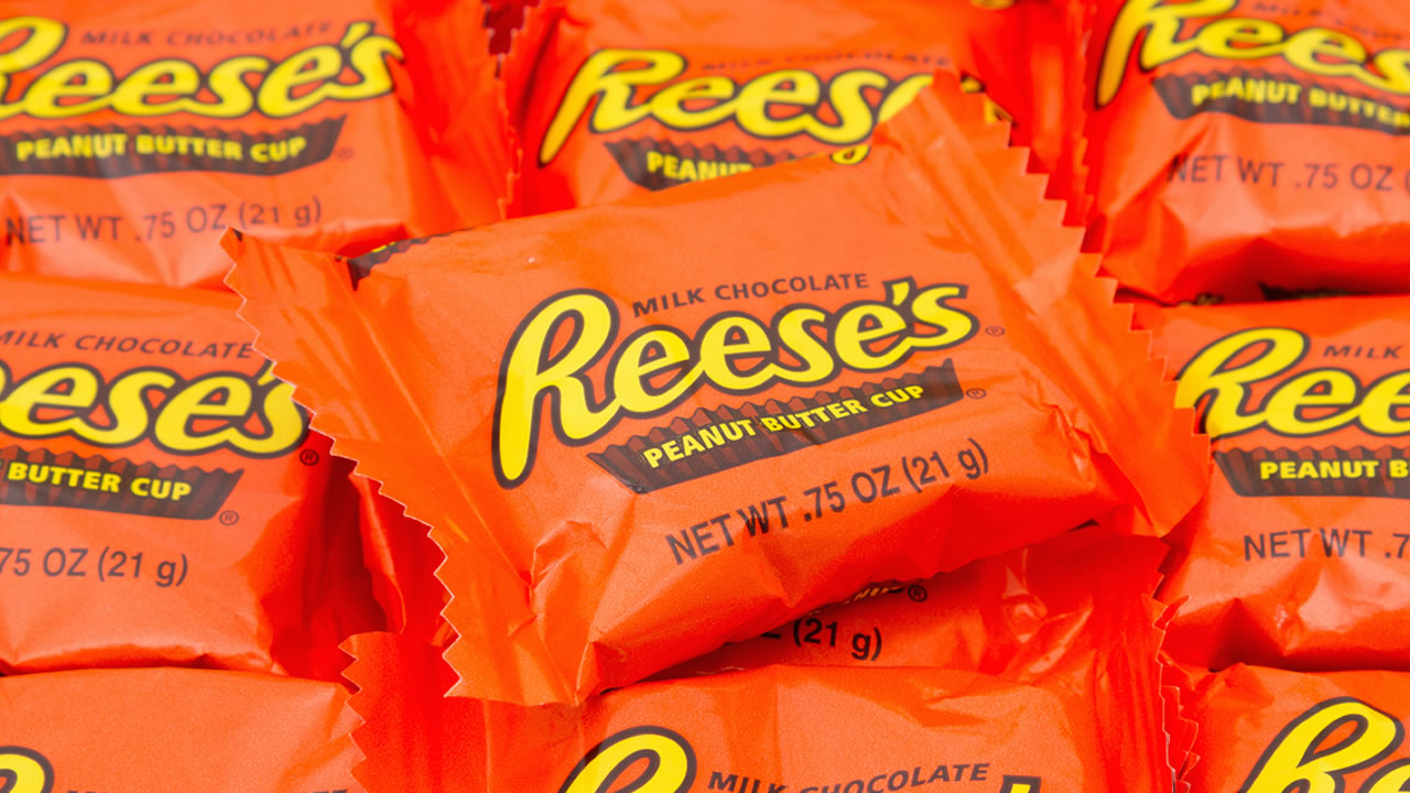 Reeses peanut butter cups are pictured in this file photo.