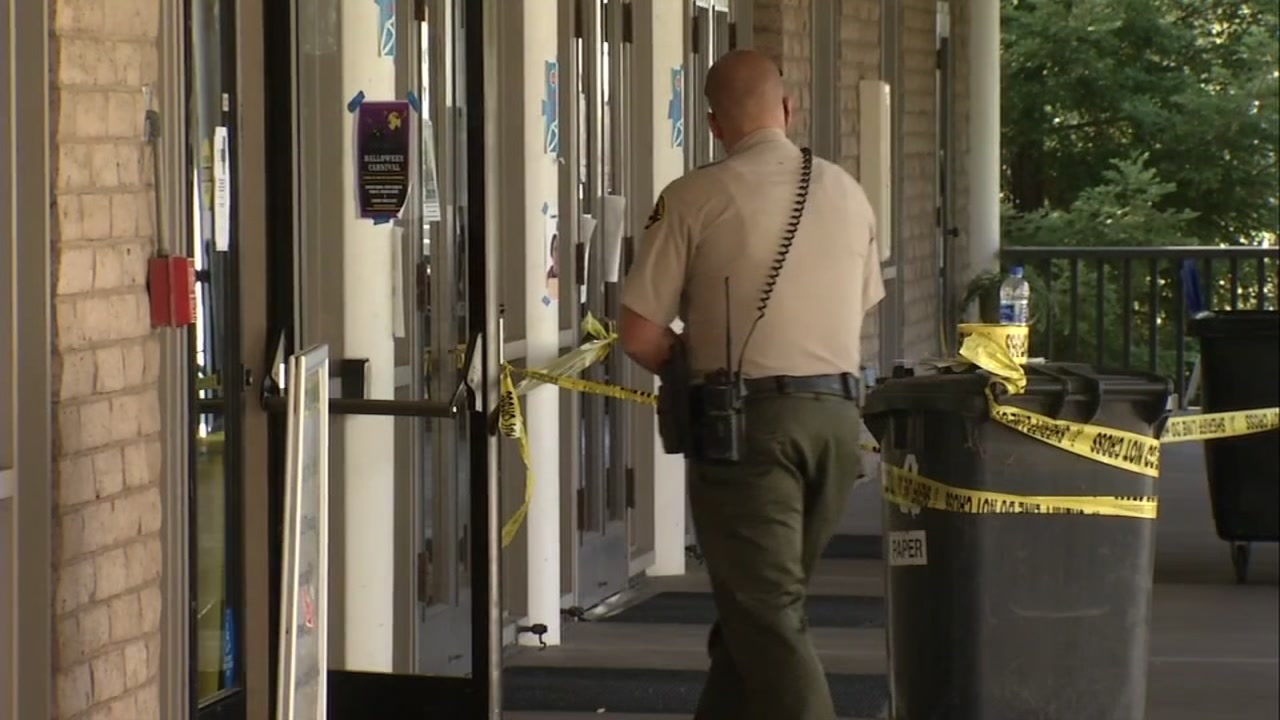 A 19-year-old woman was stabbed with a knife just before noon Wednesday at Cabrillo College in Santa Cruz County.