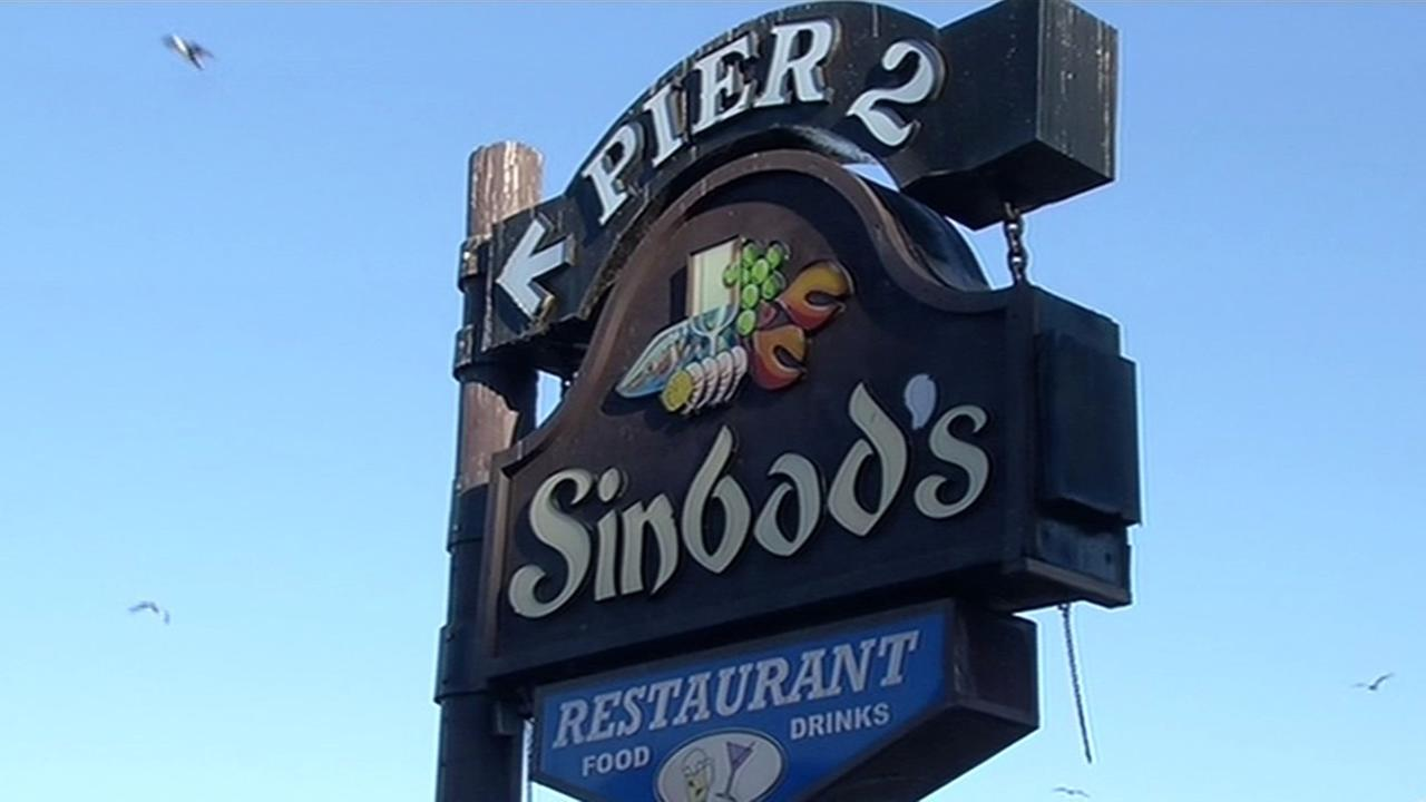 This undated image shows a sign for Sinbads restaurant in San Francisco. The iconic eatery filed for bankruptcy on Wednesday, October 14, 2015.