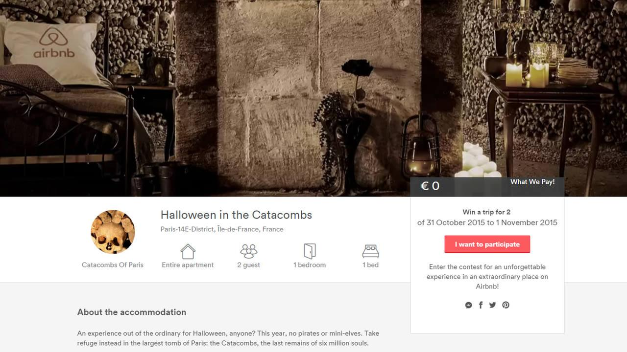 Screenshot of Airbnb website