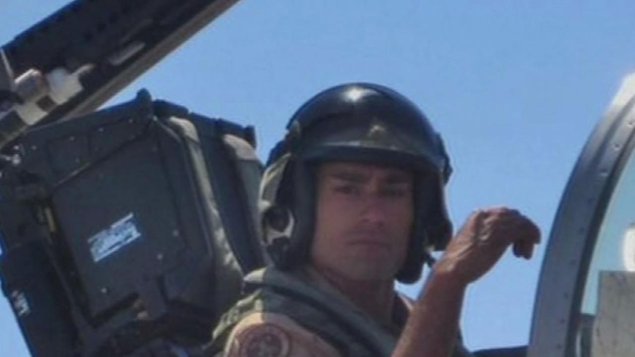Marine pilot Taj Sareen of San Mateo County was killed in a fighter jet crash in England, Oct. 21, 2015.