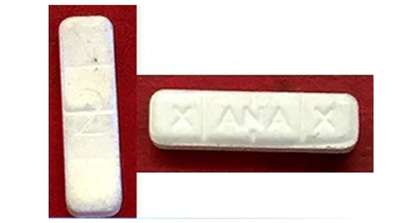 white rectangle pill xanax
