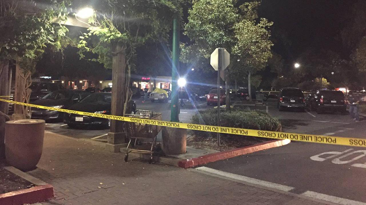Police are investigating a fatal shooting at a Livermore shopping center on First Street on Saturday, October 24, 2015.