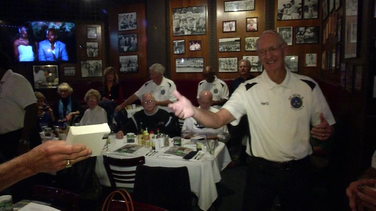The San Francisco Seals were recognized at Lefty ODouls for being the top senior league softball team., Tuesday, October 27, 2015.