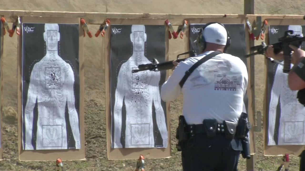This undated image shows people shooting at the Chabot Gun Club in Castro Valley, Calif.