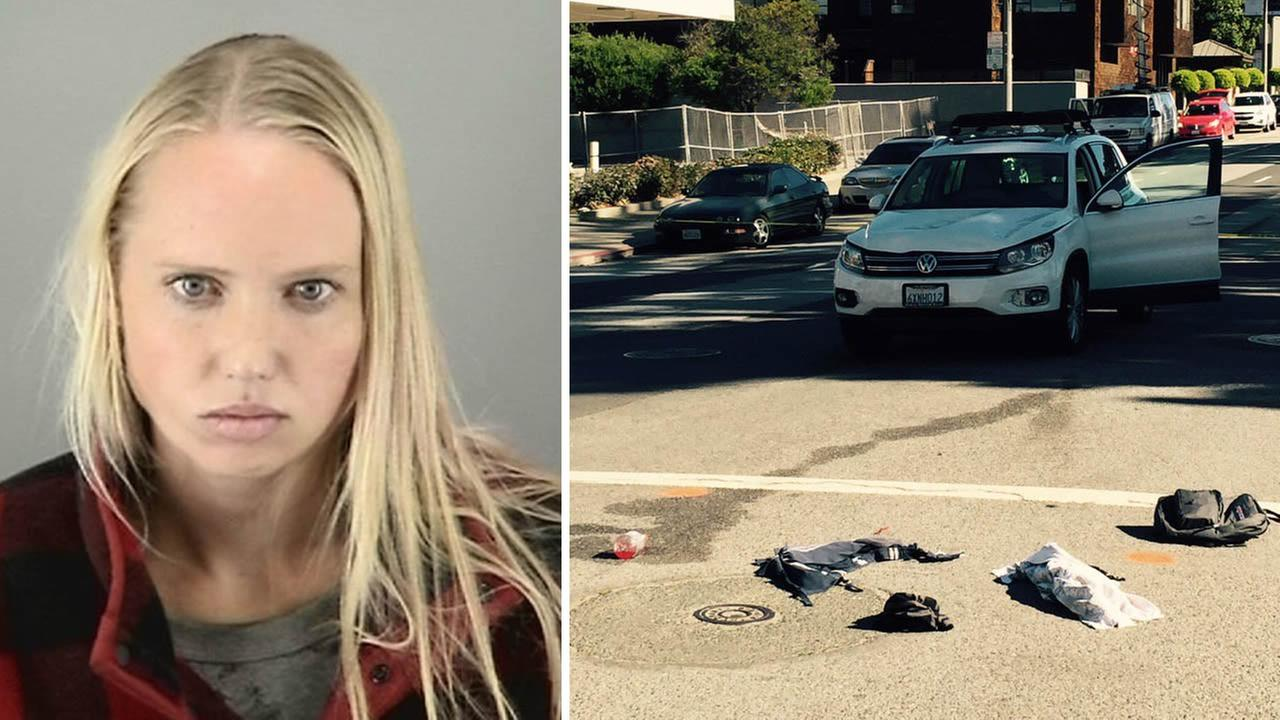 Kristen Andereck, 30, is accused of driving dunk and hitting two 12-year-old boys in San Francisco on Wednesday, November 4, 2015.