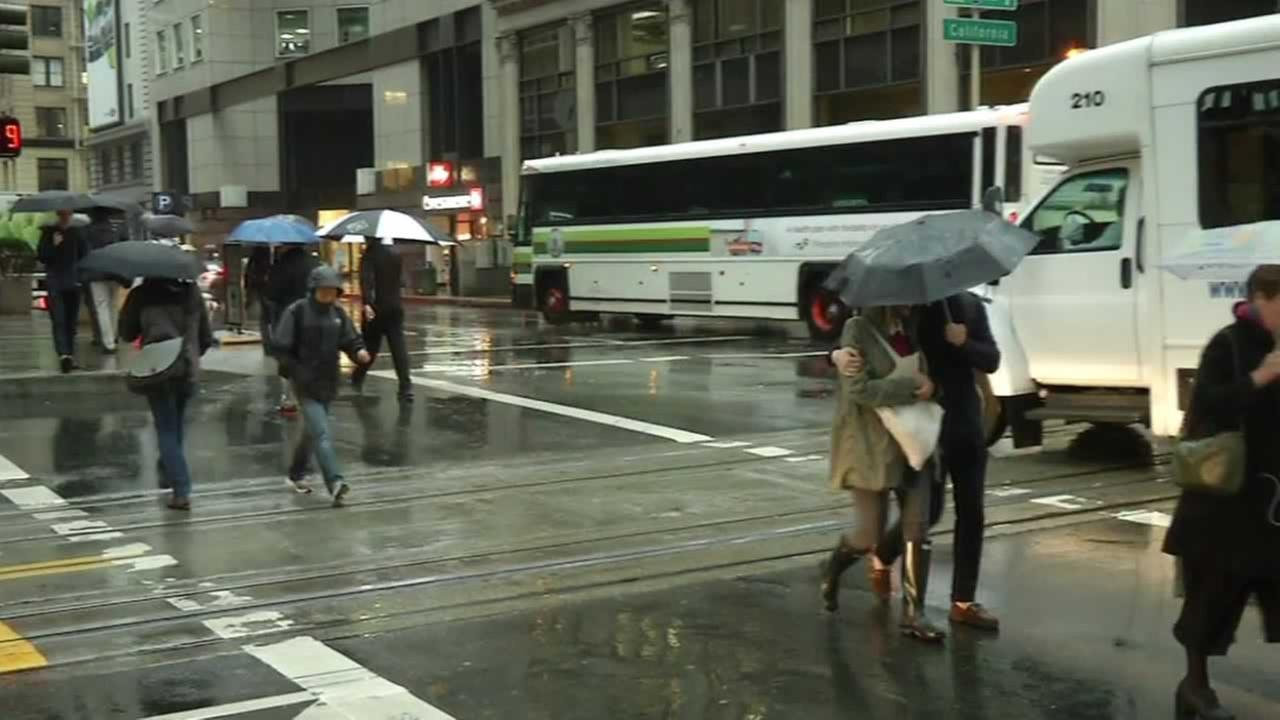 A storm moved through the Bay Area on Monday, November 9, 2015, bringing waves of thunderstorms, lightning and showers. Share your weather pics on social media using #abc7now.