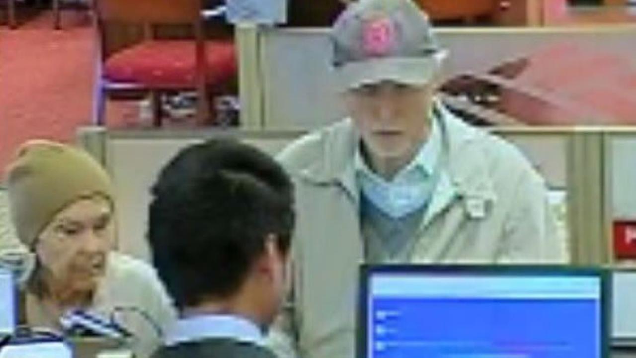 A surveillance image of Sam and Maria Walko was taken at a Healdsburg, Calif. bank on Monday, November 9, 2015.