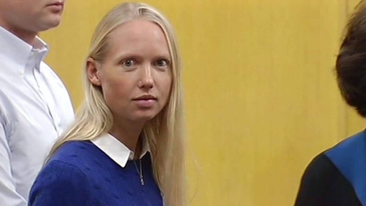 Kirsten Andereck, 30, whos accused of hitting two 12-year-old boys while driving drunk in San Francisco made her first court appearance on Tuesday, November 10, 2015.